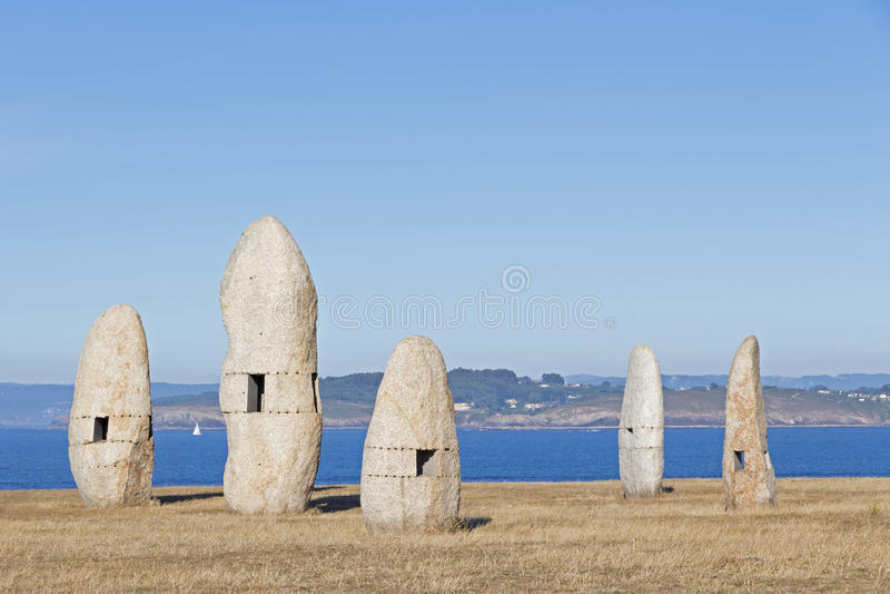 Menhires, ένα Coruna, Ισπανία στοκ φωτογραφίες
