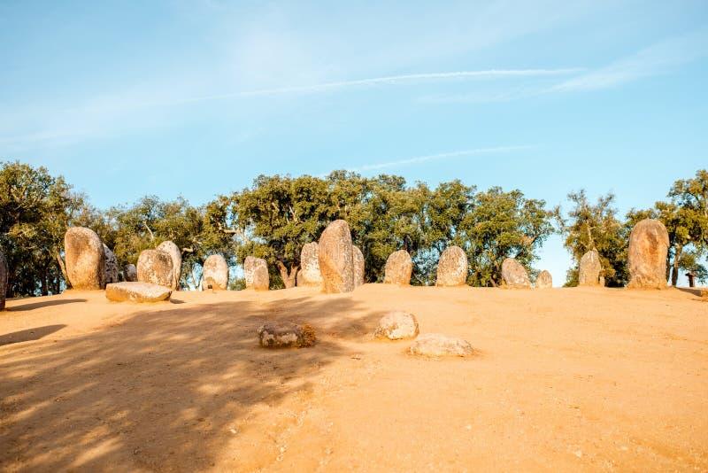 Menhires en Portugal imagenes de archivo