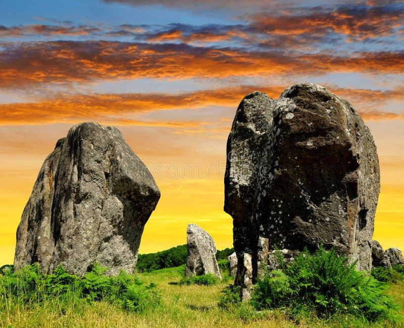 Menhirs dans Carnac photographie stock