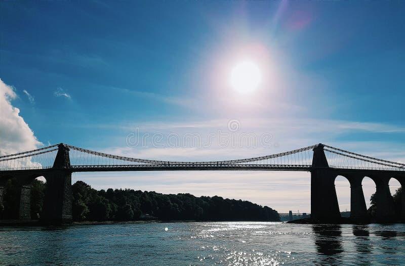 Menia Straits Bridge royalty free stock photos