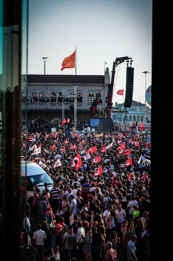 Menigte op Vergast Mensenfestival stock foto