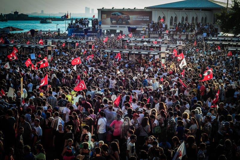 Menigte op Vergast Mensenfestival stock afbeelding