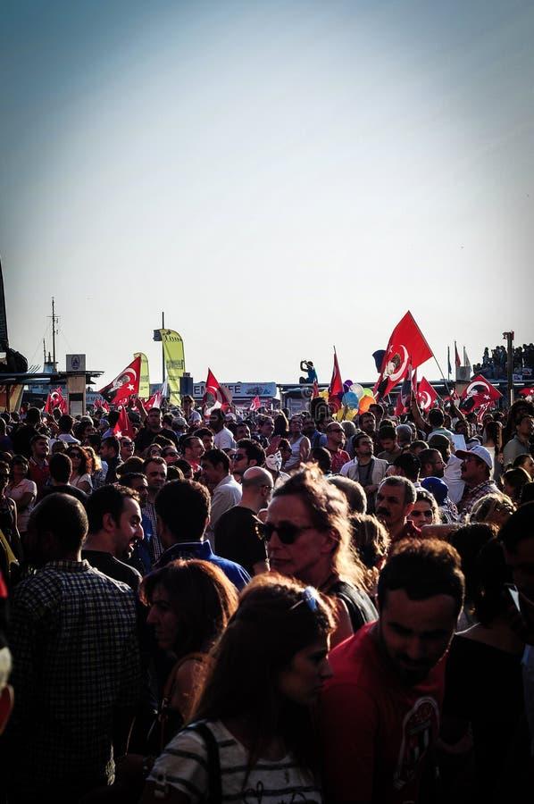 Menigte op Vergast Mensenfestival stock fotografie