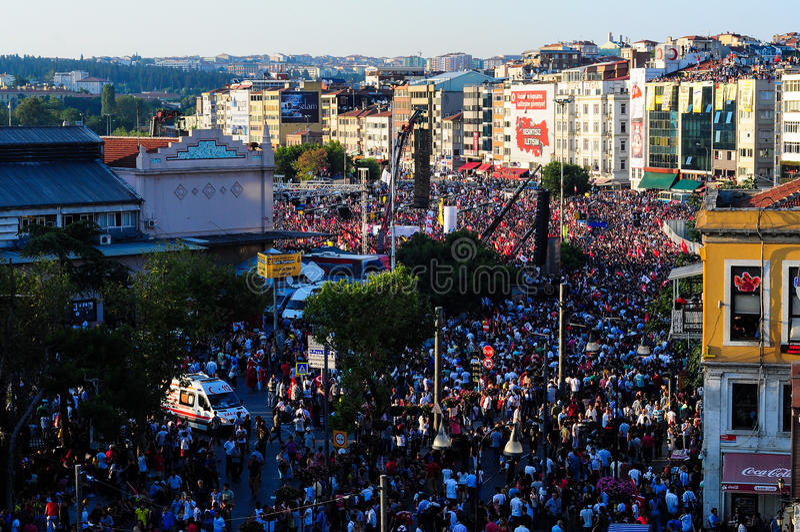 Menigte op Vergast Mensenfestival royalty-vrije stock foto