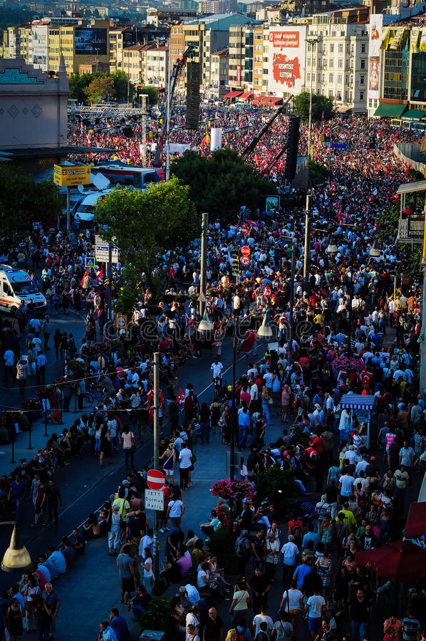Menigte op Vergast Mensenfestival royalty-vrije stock afbeelding