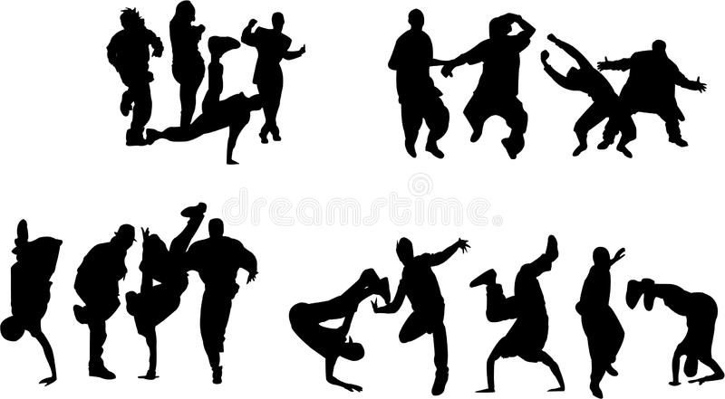 Menigte Van Jonge Mensen Het Dansen Stock Afbeelding