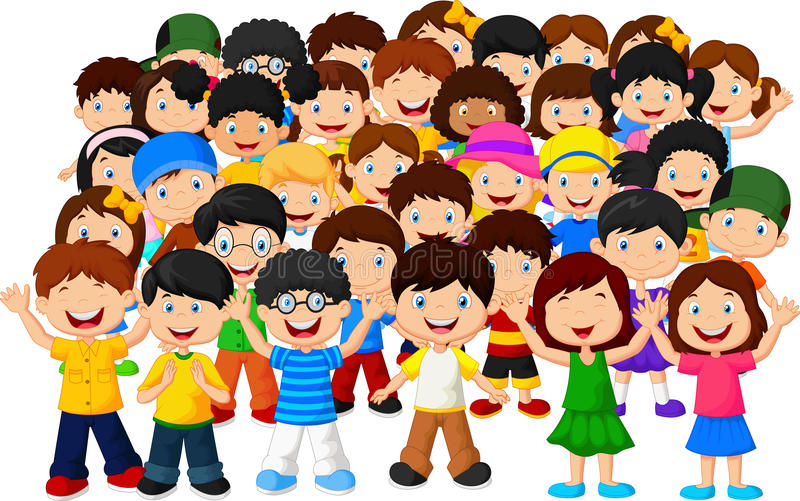 Menigte van kinderen royalty-vrije illustratie