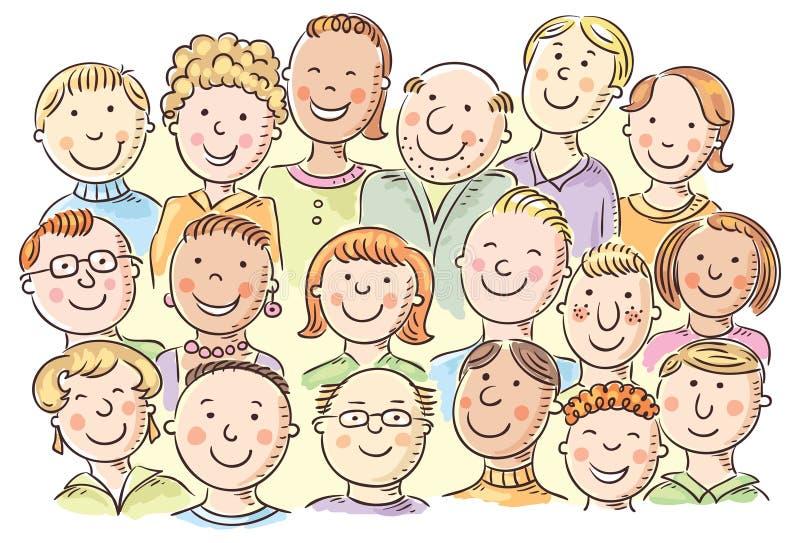 Menigte van mensen stock illustratie