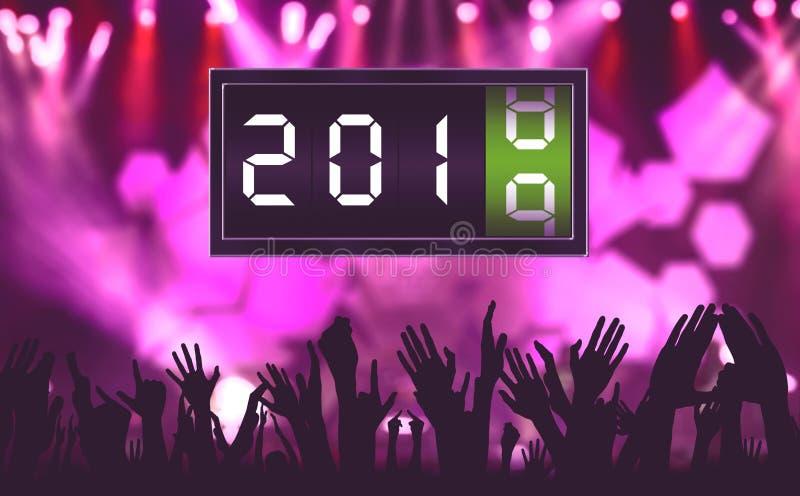 Menigtemensen in nieuwe jaartijd stock illustratie