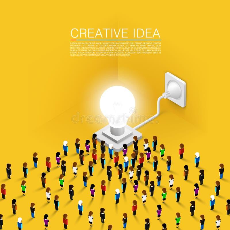 Menigtemensen toegewijd idee vector illustratie