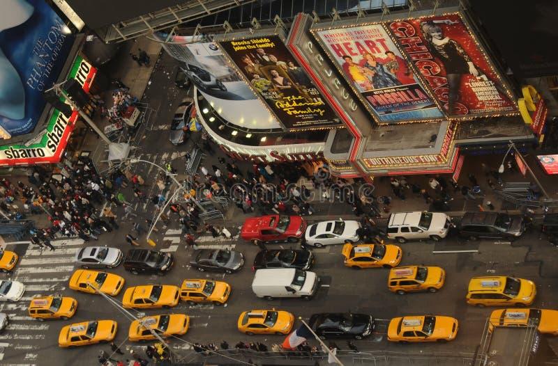 Menigten in New York Stad stock foto's