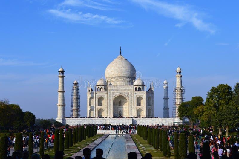 Menigten in Taj Mahal royalty-vrije stock foto