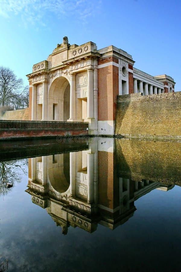 Menin在Ypres的门纪念品 库存照片