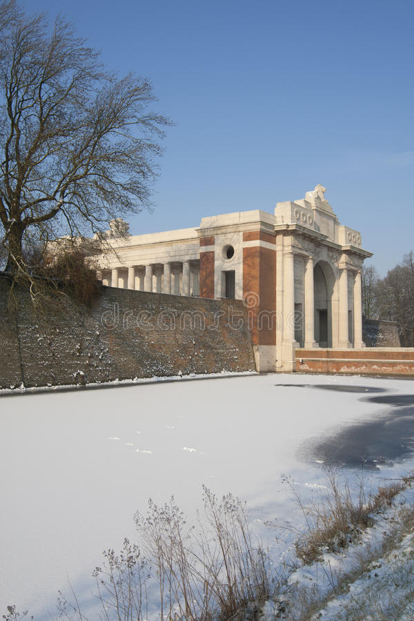 Free Menin Gate In Winter Royalty Free Stock Photos - 23650948