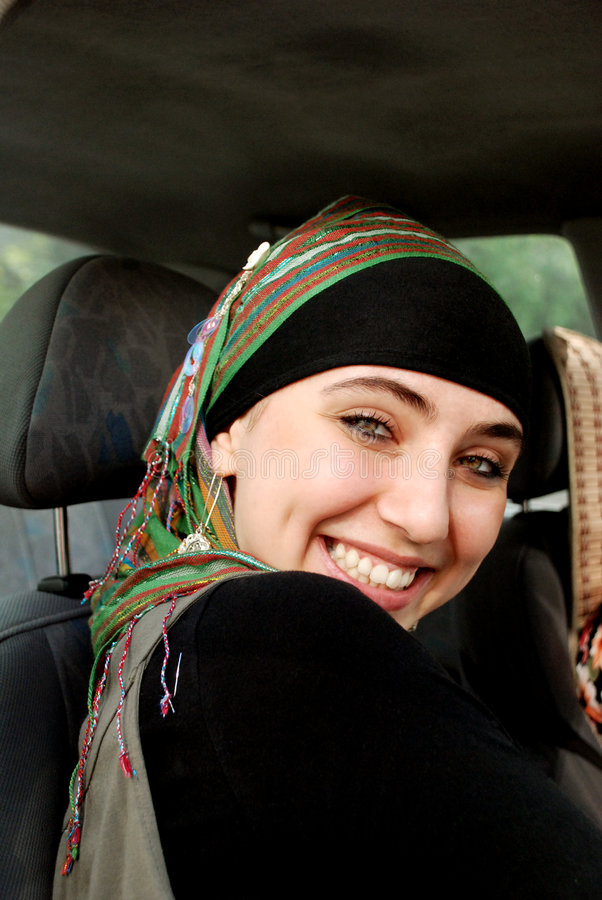 Menina árabe moderna foto de stock royalty free