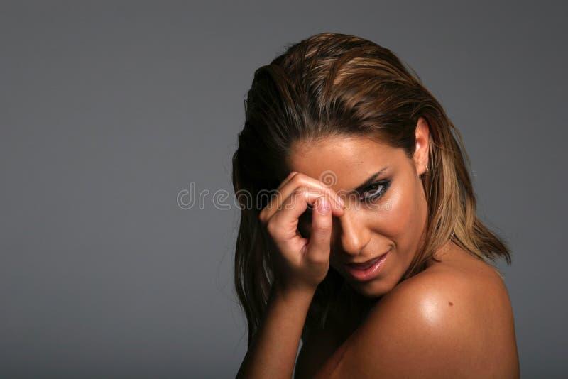 Menina étnica bonita fotografia de stock royalty free