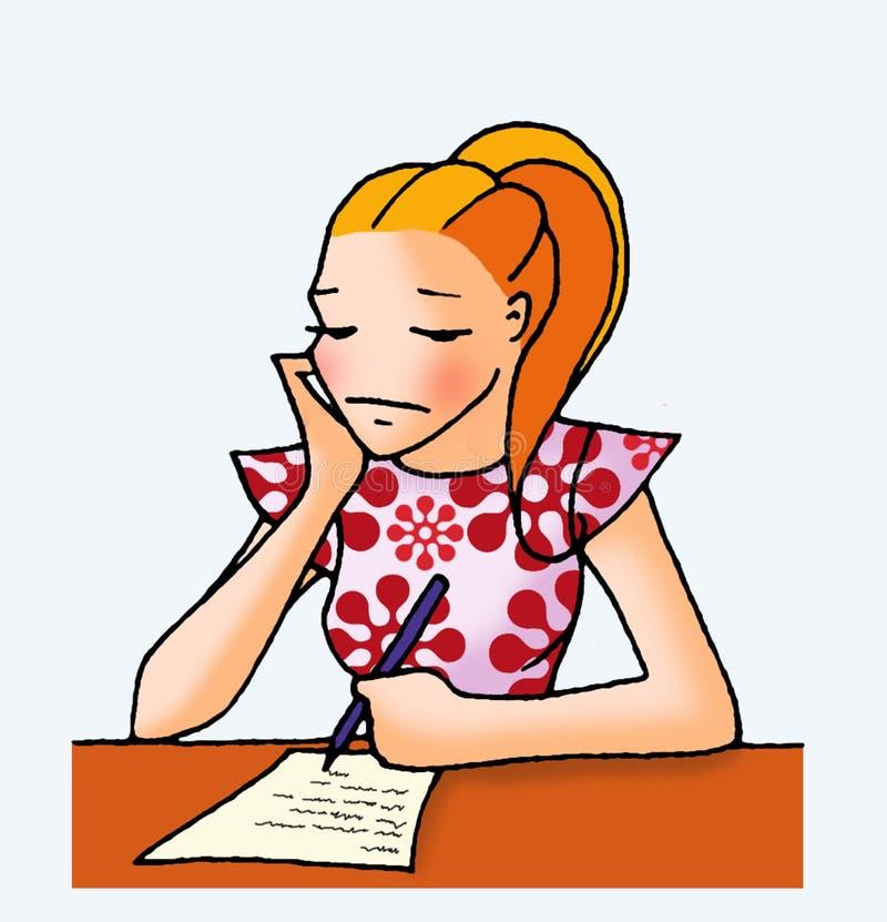 Menina 04 da letra ilustração do vetor