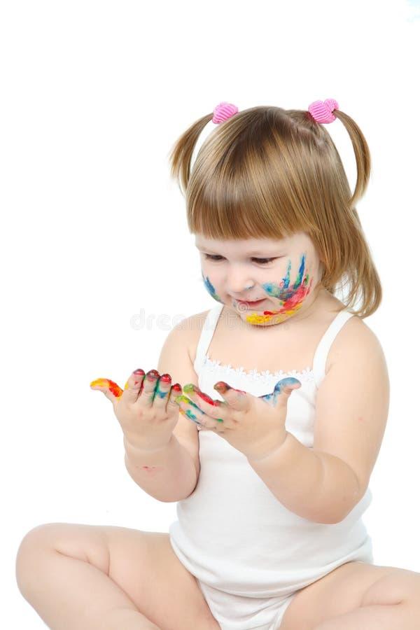 Download Menina imagem de stock. Imagem de expressar, bebê, divertimento - 16868143