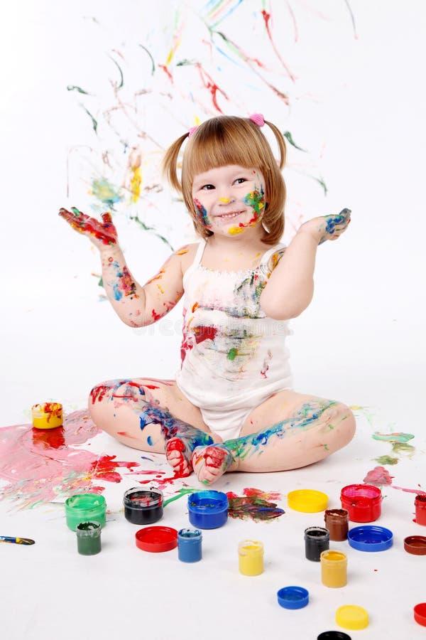Download Menina imagem de stock. Imagem de messy, fêmea, lazer - 16868165