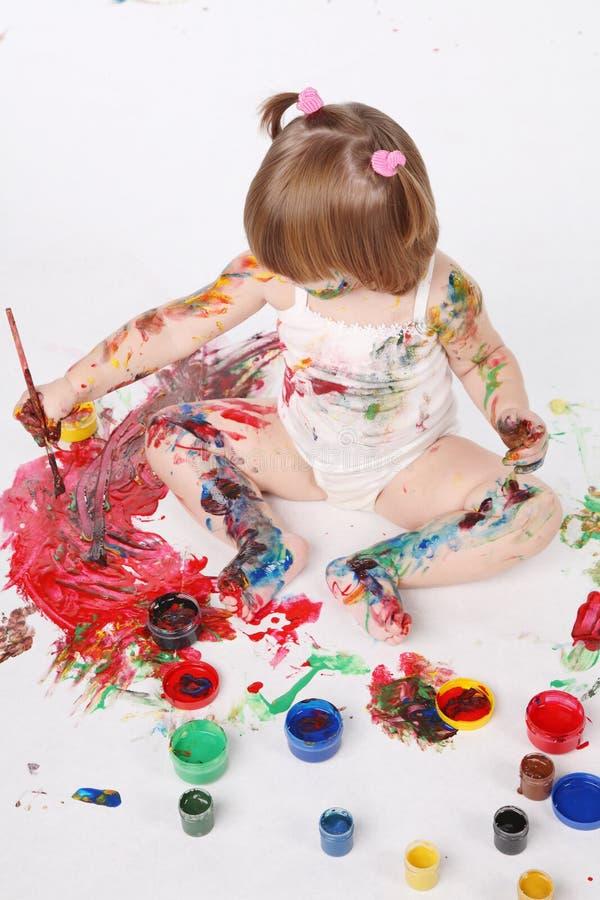 Download Menina imagem de stock. Imagem de cheerful, mão, atividade - 16868177