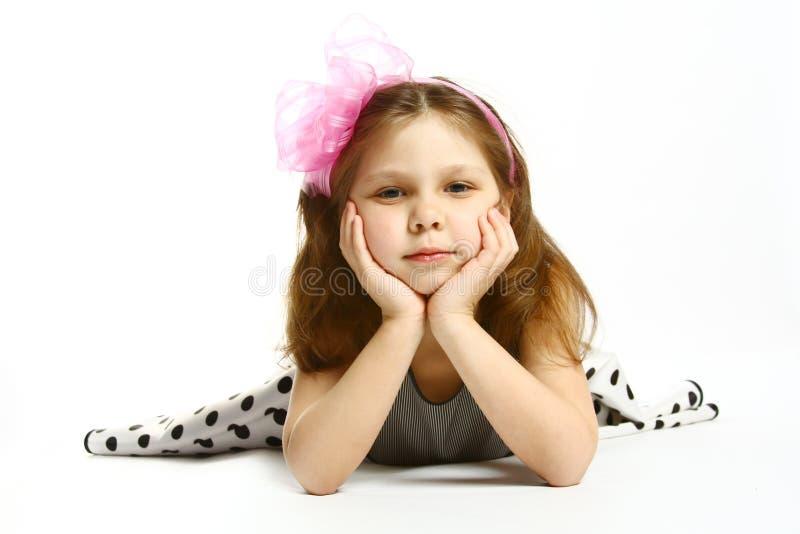 menina 5 anos velha foto de stock