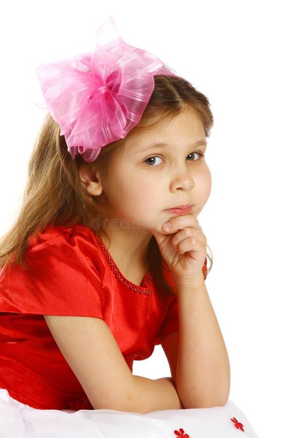 menina 5 anos velha imagem de stock royalty free
