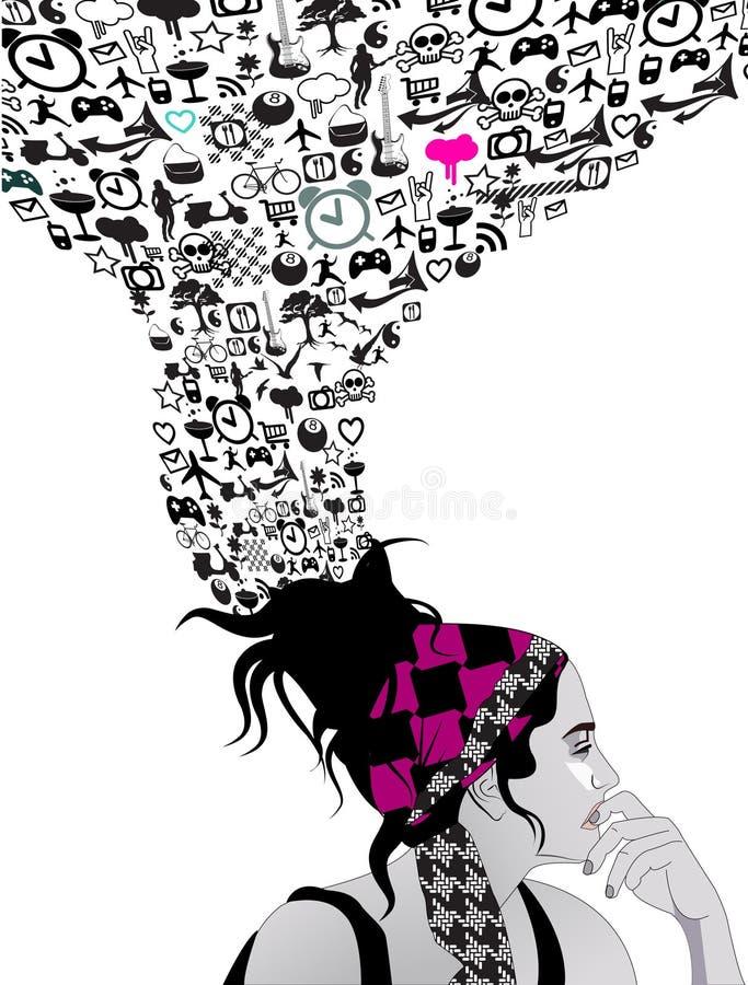 Menina adolescente ilustração do vetor