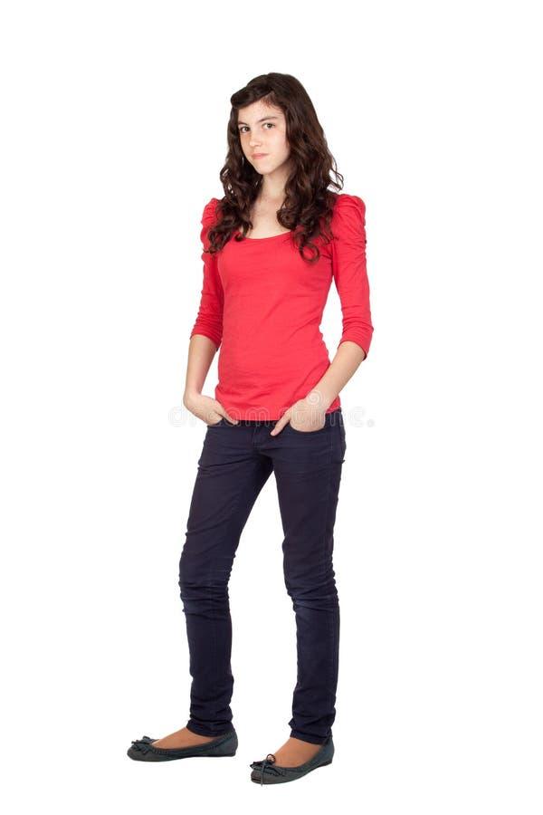 Menina adolescente adorável fotos de stock