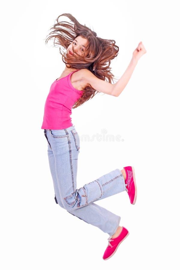 Menina adolescente com suportes fotos de stock royalty free
