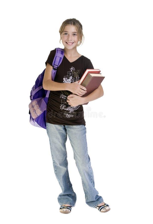 Menina adolescente da escola fotografia de stock