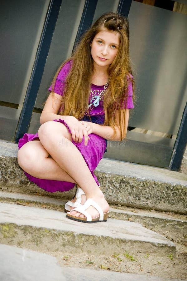 Menina adolescente da forma imagem de stock royalty free