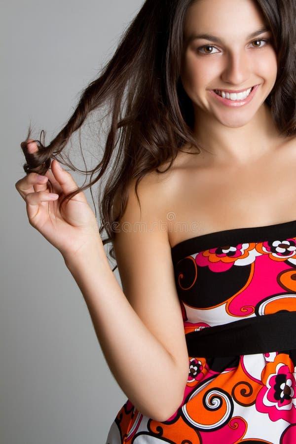 Menina adolescente de sorriso fotos de stock