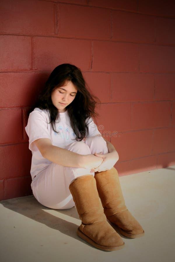 Menina Adolescente Deprimida Triste Foto de Stock