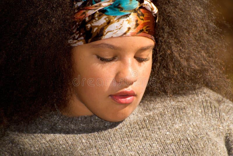 Menina adolescente do americano africano fotos de stock royalty free