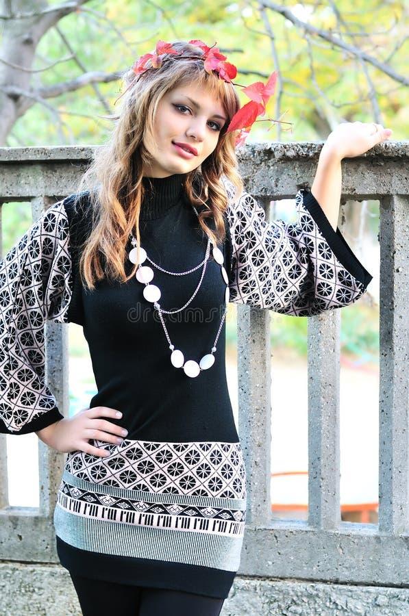 Download Menina Adolescente Do Outono Imagem de Stock - Imagem de brunette, expressão: 16857591
