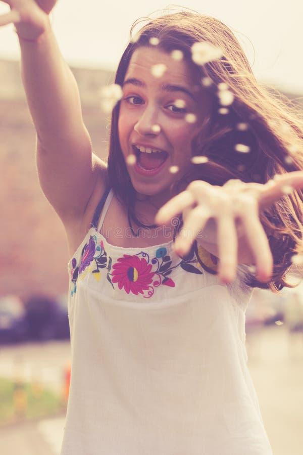 Menina adolescente feliz fotografia de stock royalty free