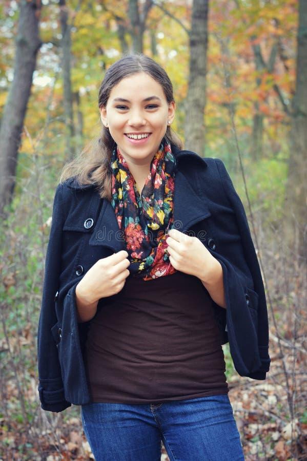 Menina adolescente feliz foto de stock
