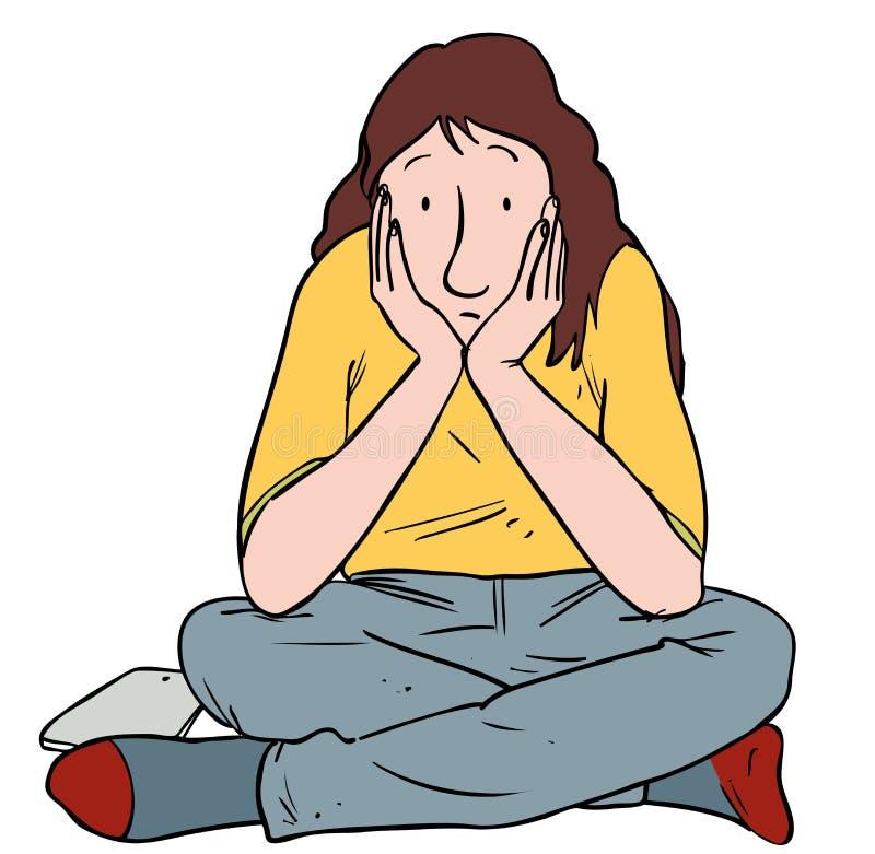 Menina adolescente furada ilustração stock