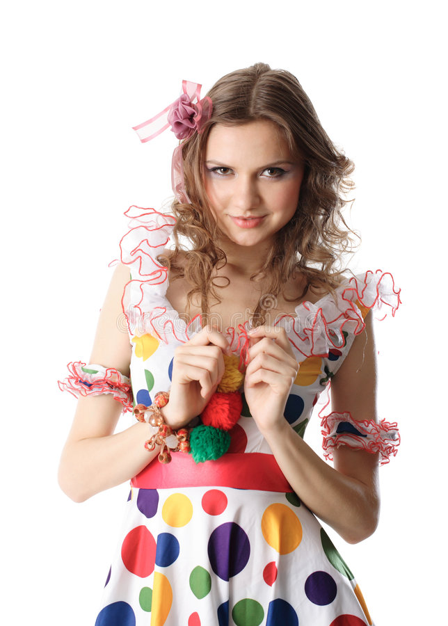 Menina adolescente no vestido de partido fotos de stock