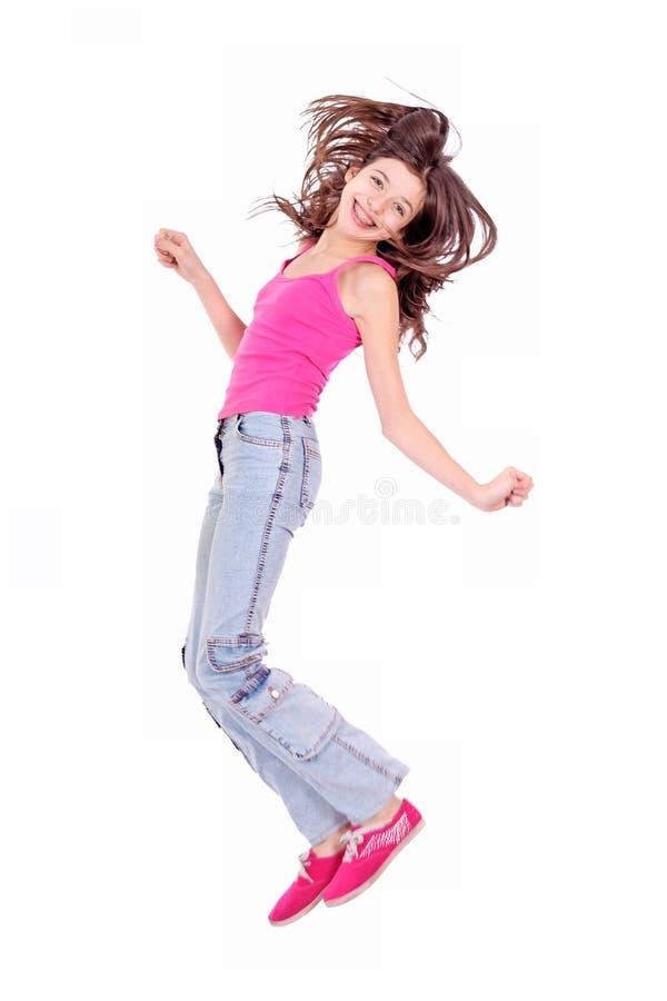 Menina adolescente nova bonita com suportes fotografia de stock royalty free
