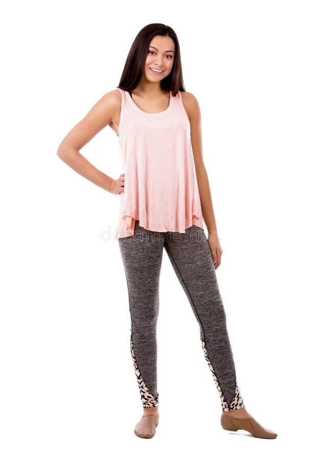 Download Menina Adolescente Ocasional Imagem de Stock - Imagem de camisa, brunette: 65580657