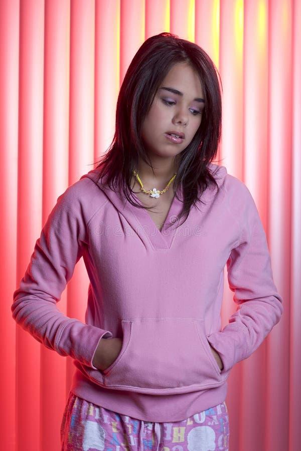 Menina adolescente triste foto de stock royalty free