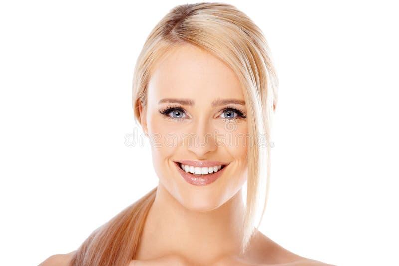 Menina adorável com sorriso bonito fotos de stock
