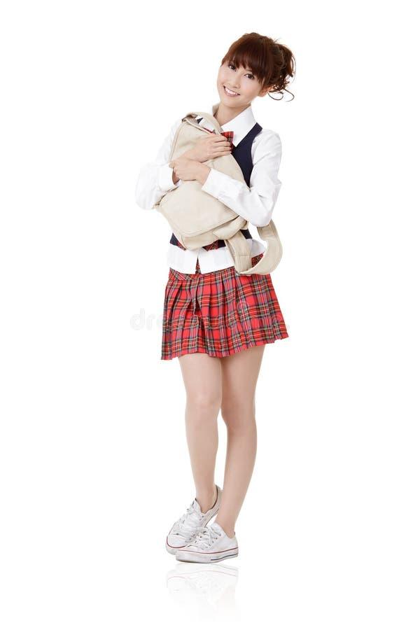 Menina adorável do estudante da escola imagens de stock