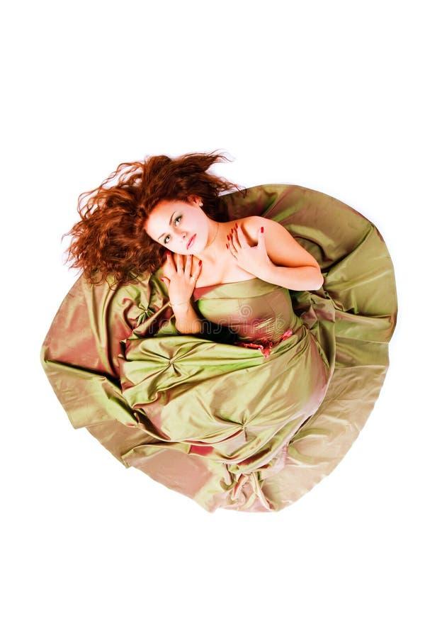 Download Menina Adorável Nova No Vestido No Assoalho Foto de Stock - Imagem de elegance, fêmea: 12804050