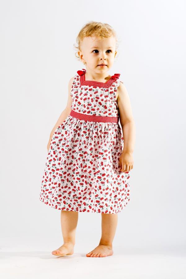 Menina adorável nova vestida acima imagem de stock royalty free