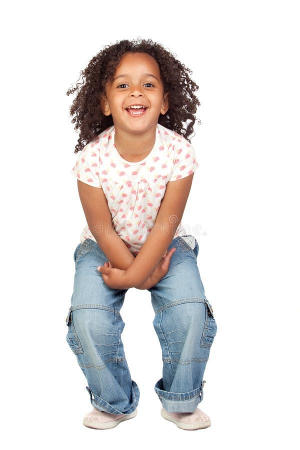 Menina africana adorável com cabelo bonito foto de stock