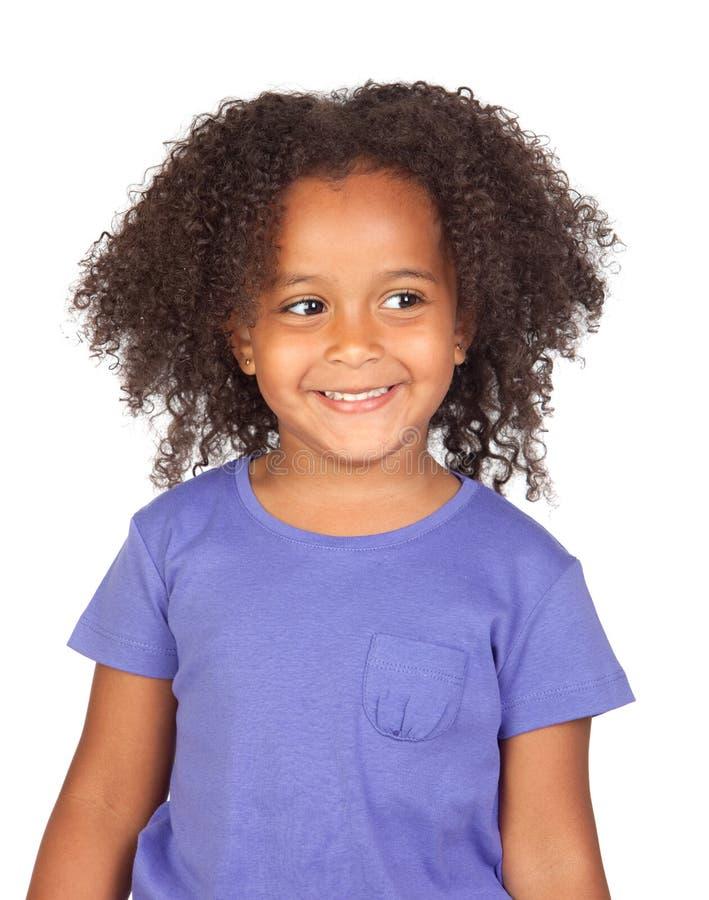Menina africana adorável com penteado fotografia de stock