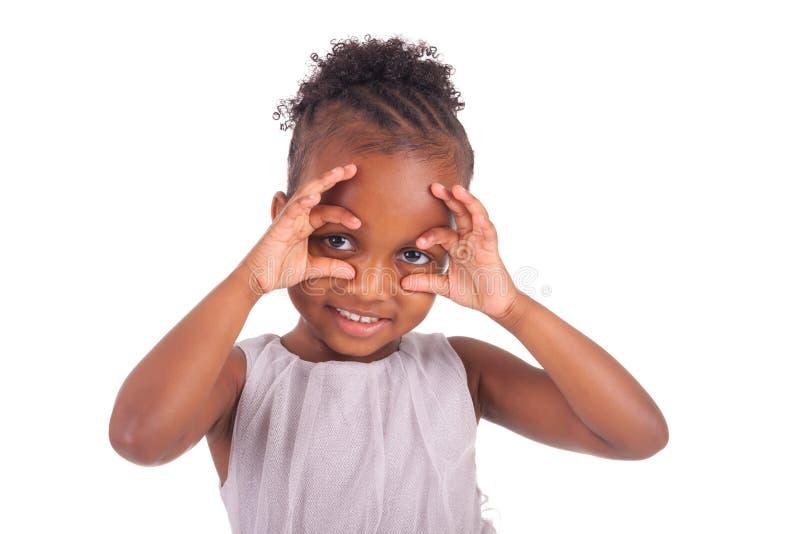 Menina africana adorável imagens de stock royalty free