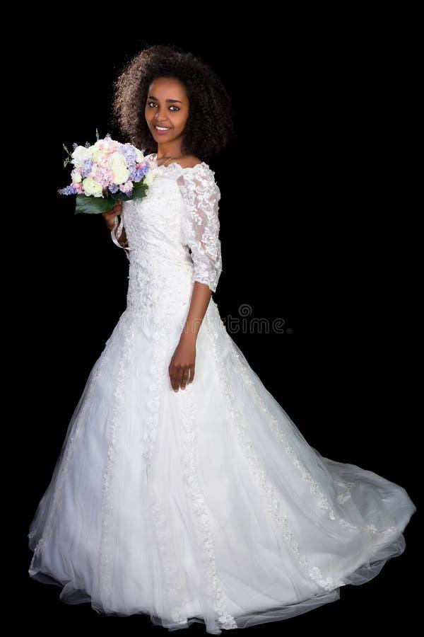 Menina africana do casamento fotografia de stock